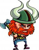 image of horny  - Cute cartoon viking with horny helmet - JPG