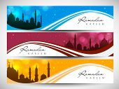 Website header or banner for Ramadan Kareem.