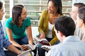 stock photo of bonding  - Bible Group Reading Together - JPG