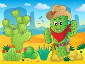 Cactus theme image 4 - eps10 vector illustration.
