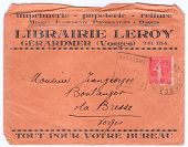 Vntage Used Old-fashioned French Envelope