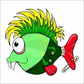 fish-punk. cartoon character.