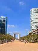 Modern Buildings In Paris
