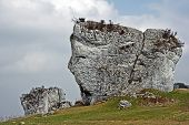 White limestone rock in Jura