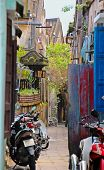 Narrow lane in HoiAn, Vietnam