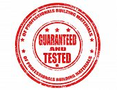 Guaranteed And Tested-stamp