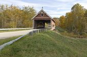stock photo of covered bridge  - Covered bridges in Northeast Ohio Counties - JPG