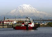 Tugboat Guide Vessel Waterfront Bay Thea Foss Waterway Rainier Tacoma