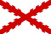 stock photo of conquistadors  - Flag of New Spain that became the Spanish East Indies - JPG