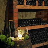 still life in wine cellar, Czech Republic