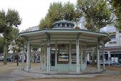 The gazebo in the Park des Sources in Vichy, France