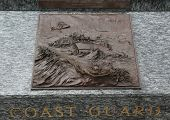 Coast Guard 3D relief art sculpture in San Francisco