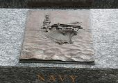 Navy 3D relief art sculpture in San Francisco