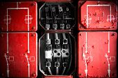 Industrial Fuse Cabinet Close Up