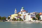 picture of bavaria  - Passau at the confluence of three rivers Inn Danube and Ilz Bavaria Germany - JPG