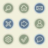 Basic web icon set, vintage buttons