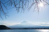 Mountain Fuji fujisan from kawaguchigo lake at Yamanashi Japan