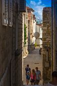 Croatia Rab City narrow streets