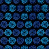 Blue flowers, dark background,  seamless pattern