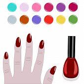 Paleta de uñas
