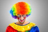 Portrait of a sad clown