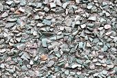 picture of sand gravel  - Small rocks gravel wall - JPG