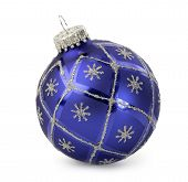 Christmas Decorative Ball for Hanging on a Christmas Tree, Isolated on a White background