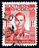 Postage Stamp Zuid-Rhodesië 1937 koning George Vi
