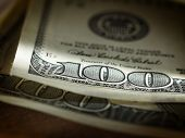 picture of american money  - Background with money american hundred dollar bills - JPG