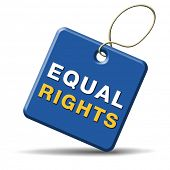equal rights and opportunities for all women man disabled black and white solidarity discrimination of people with disability or physical and mental handicap
