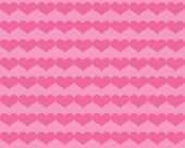Dark Pink Valentine Hearts on Lighter Pink Background