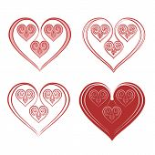 Valentine Heart Of Ornaments