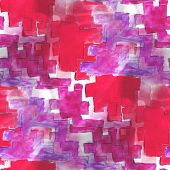 art avant-garde red, purple background hand paint seamless wallp