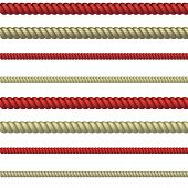 stock photo of hangman  - set of line rope - JPG