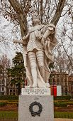 Statue Of Count Fernan Gonzalez (circa 1753).  Madrid, Spain