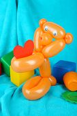 pic of parti poodle  - Simple balloon animal bear - JPG