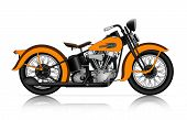 stock photo of chopper  - highly detailed illustration of classic motorcycle in vector - JPG