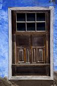 Window In A Blue Wall Arrecife Lanzarote Spain