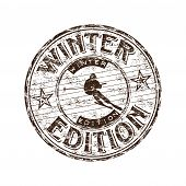 Winter edition rubber stamp