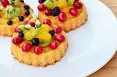 Sponge Cake Flan With Fruits