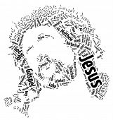 Face of Jesus Christ - Word Art | Tag Cloud