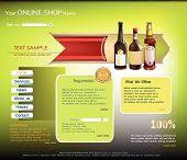 Web template Wine concept, online shop