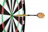 Bulls Eye Target With Dart