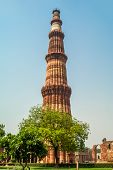 pic of qutub minar  - Qutub Minar Tower in Delhi  - JPG
