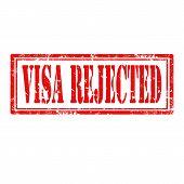 Visa Rejected-stamp
