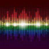 Rainbow digital equalizer vector background