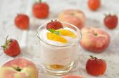 creamy strawberry and peach desserts