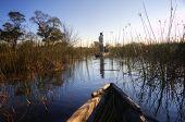 Boat trip in Okavango delta, Botswana, Africa