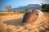 Makoro boat on Chitimba beach, Lake Malawi, Malawi, Africa