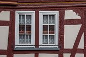 Detail Of An Old Half-timbered House In Traben-trarbach